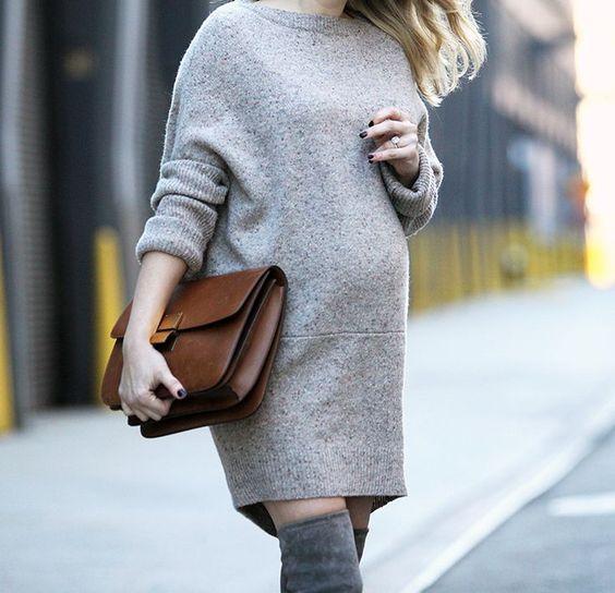 16 wintertaugliche Looks für Schwangere