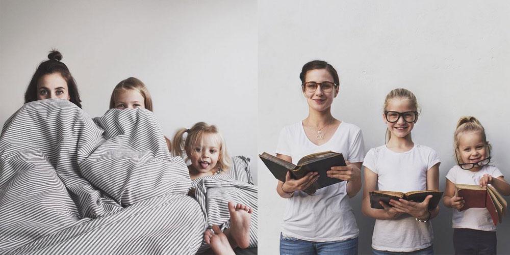 Diese Mutter schießt die süßesten Partner-Outfit-Fotos mit ihren Töchtern