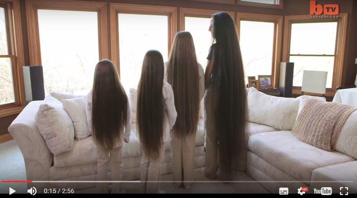 Diese Rapunzel Familie hat 4 Meter langes Haar