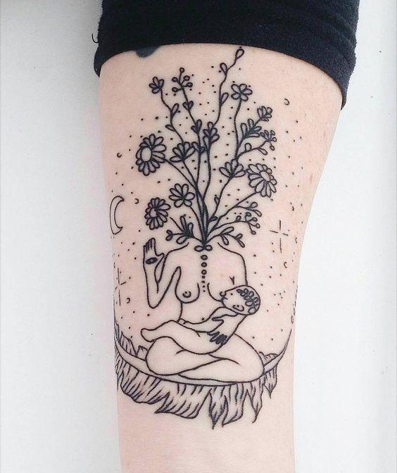 Tattoo Woman Flower Head: Diese Still-Tattoos Sind Der Hammer