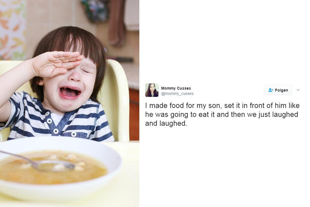 Mama-Lifestyle: 15 Tweets die zeigen wie super amüsant Essens-Zeit mit Kindern sein kann