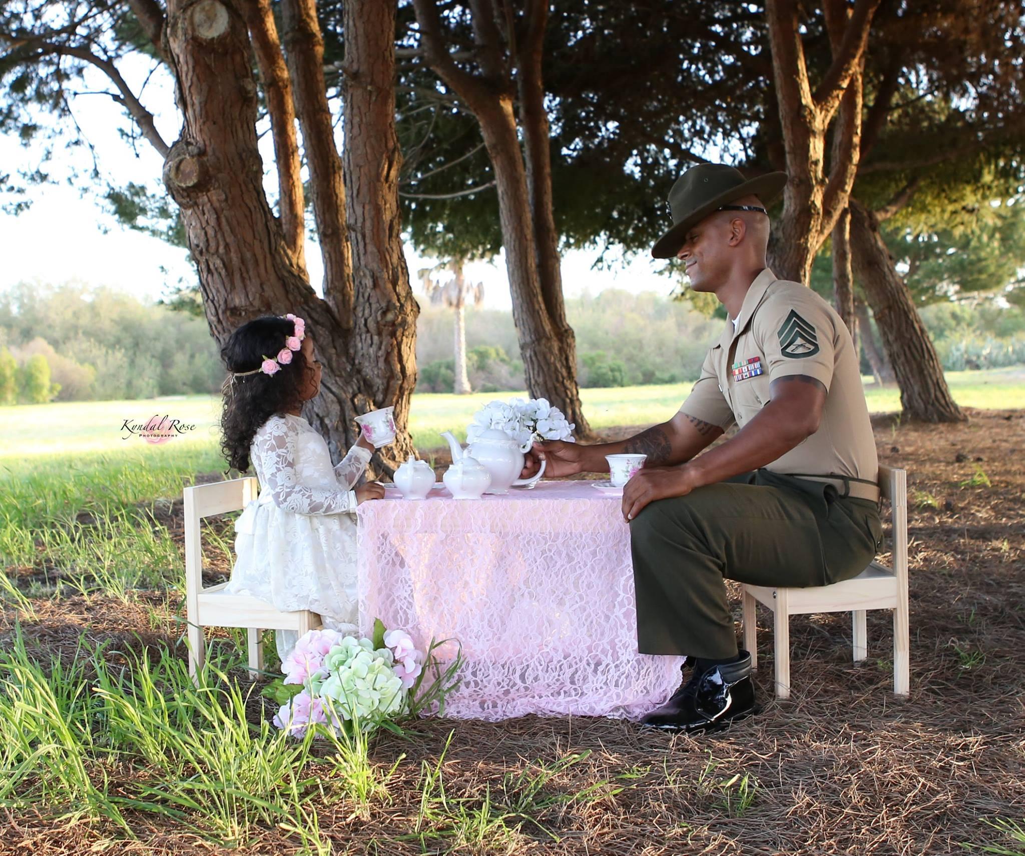 Ein Vater-Tochter-Fotoshooting der ganz besonderen Art