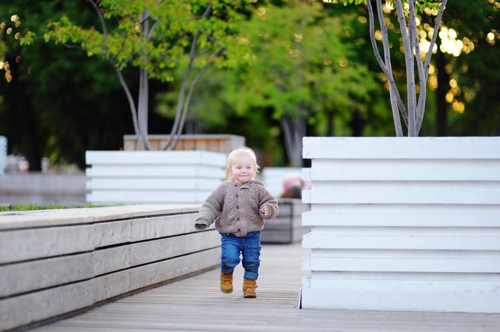 Laufanfänger: Man sollte Kinder nicht einfach stehen lassen