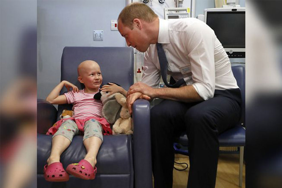 Rührendes Treffen: Prinz William besuchte eine kleine Krebspatientin