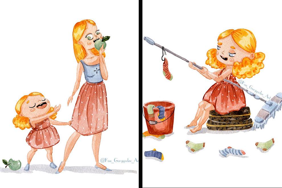 Kleines Monsterchen: Weil ihre 3-jährige Tochter sie manchmal in den Wahnsinn treibt beginnt diese Künstlerin ihren Alltag zu illustrieren