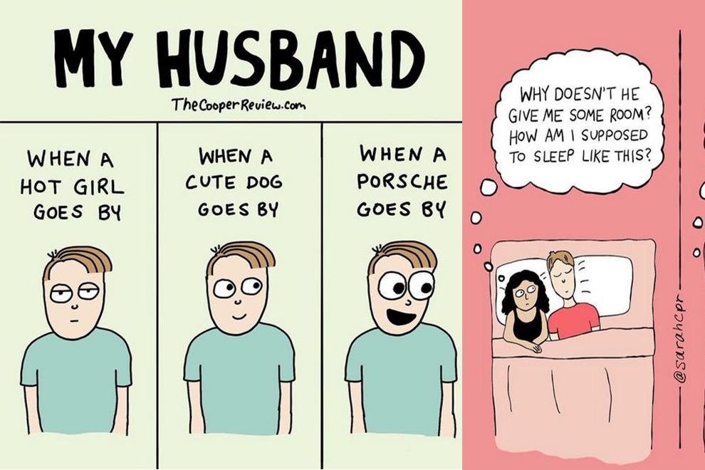 Typisch: Diese Comics zeigen das Leben mit Männern