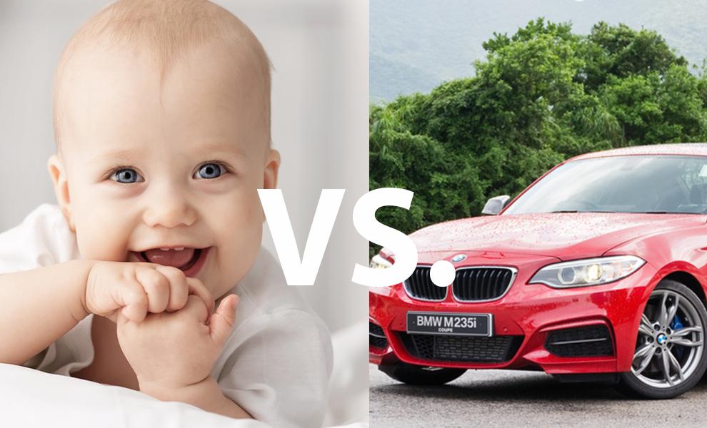 Studie: 20 BMW schädigen das Klima weniger als ein Baby!