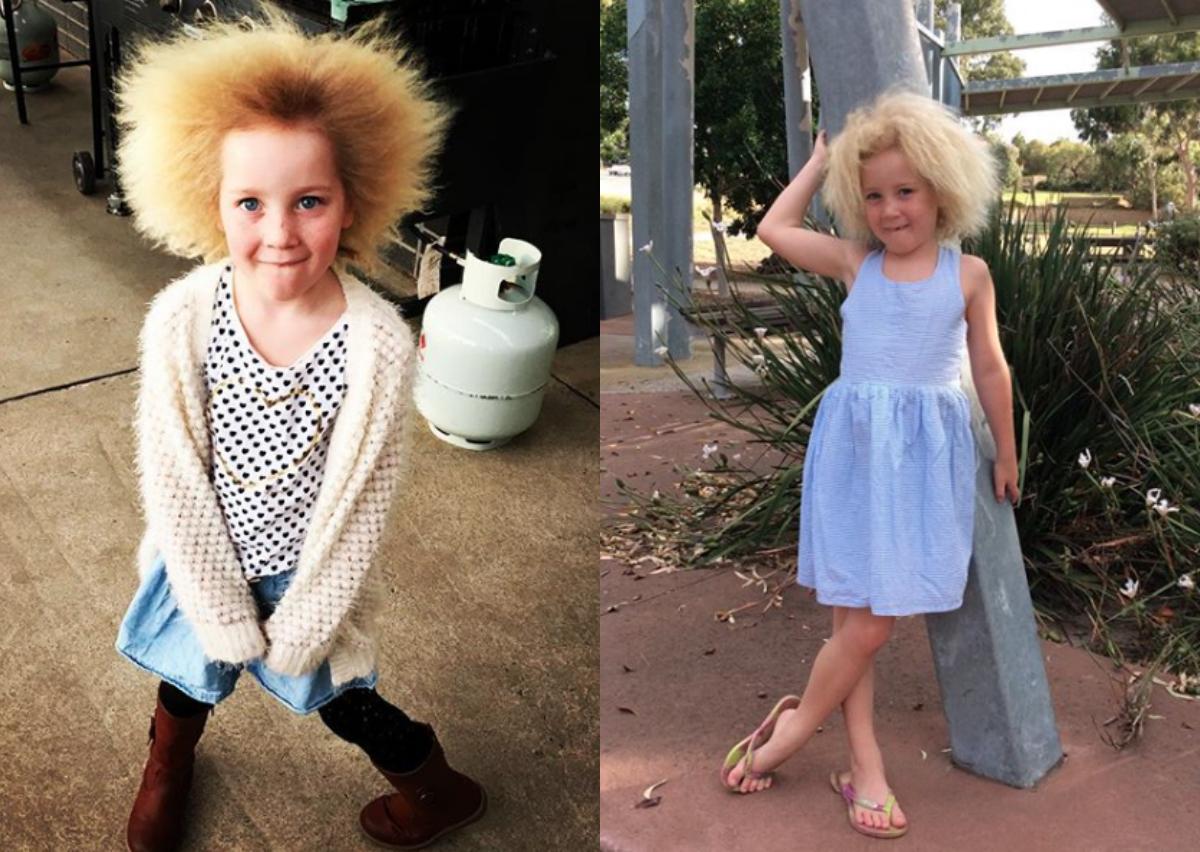Diese Siebenjährige hat unzähmbare Haare und findet es klasse