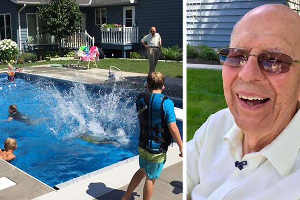 94-Jähriger baut Pool für Nachbarskinder, um sich nicht so einsam zu fühlen