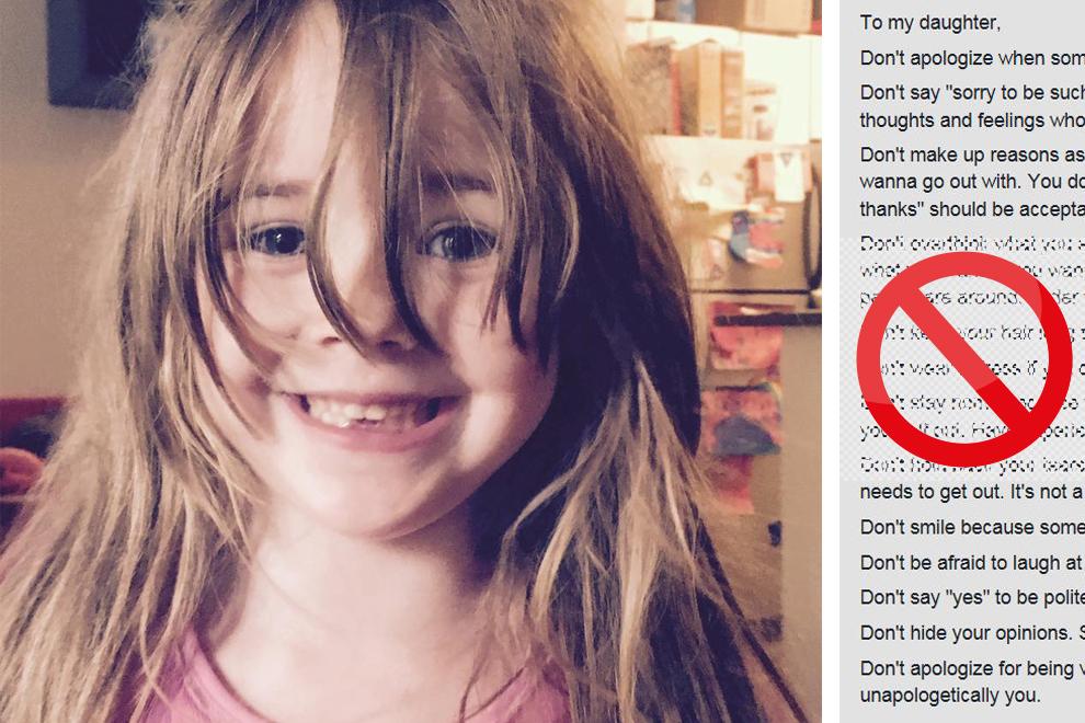 Mutter schrieb eine Verbotsliste für ihre Tochter und das Netz flippt aus!