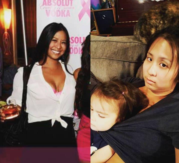 Eltern teilen Fotos, um zu zeigen, wie sie vor den Kindern ausgesehen haben und wie jetzt