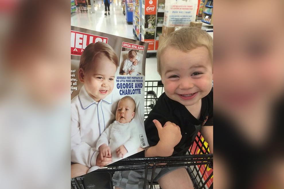 """""""Mama, das bin ich!"""" Kind denkt, er ist Prinz George <3"""