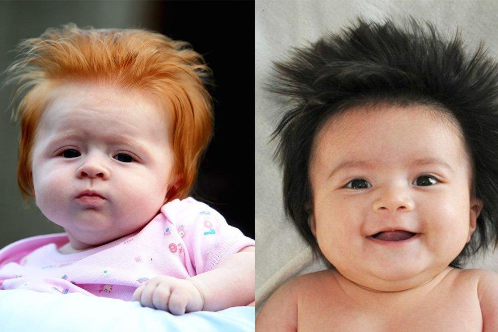 Diese Babies wurden mit viiieeel Haar geboren!