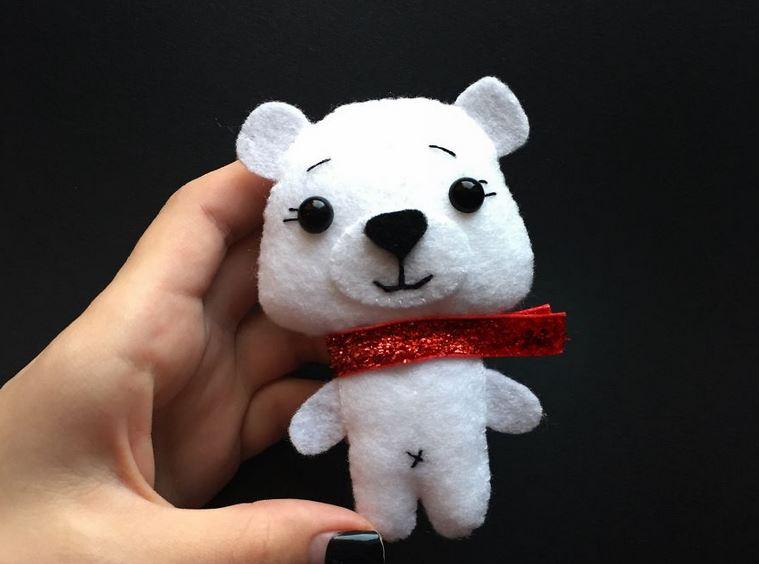 So einfach geht der DIY-Filz-Polarbär