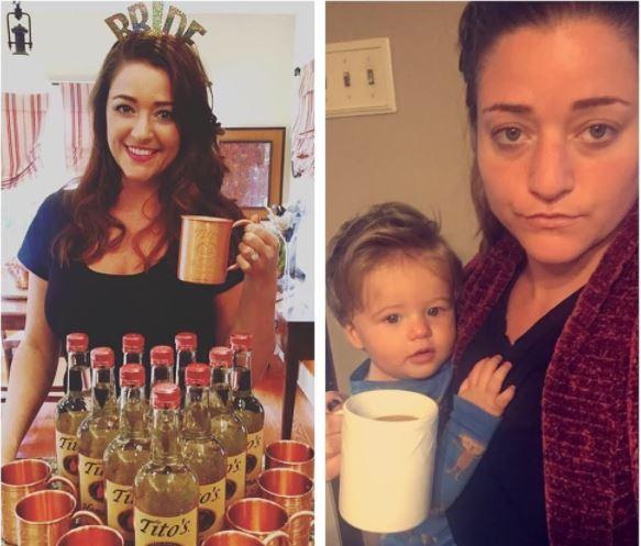 Diese Bilder zeigen Menschen bevor und nachdem sie Kinder bekommen haben