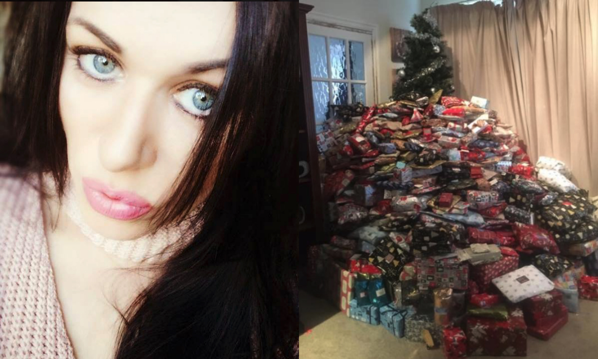 Diese Mutter besorgte über 300 Geschenke für ihre drei Kinder