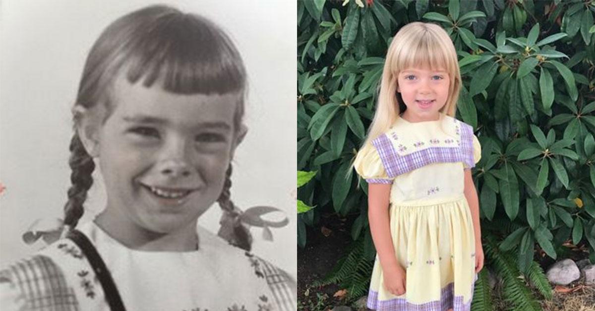 Unglaublich: Diese Familie trägt seit 67 Jahren das gleiche Kleid am ersten Schultag