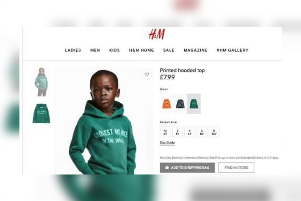 "Shitstorm gegen H&M: ""Coolest monkey in the jungle"" mit schwarzem Kind als Model"
