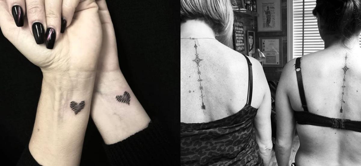 das sind die coolsten mama tochter tattoos ever. Black Bedroom Furniture Sets. Home Design Ideas
