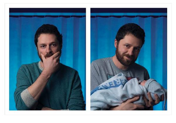 Fotograf lichtete Väter vor und nach der Geburt ihrer Babys ab