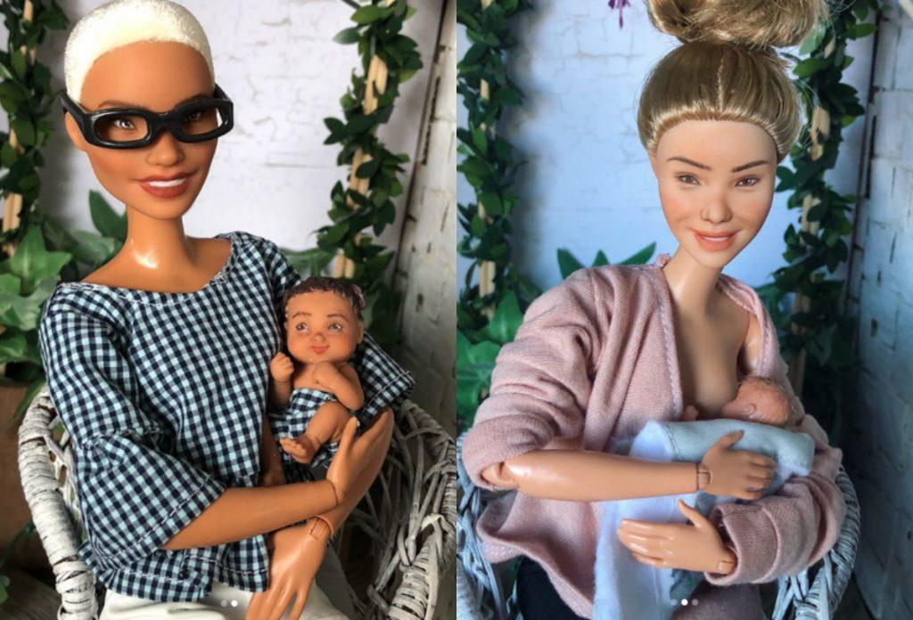 Es gibt ungeschminkte, stillende Mama-Barbies mit Augenringen (und wir lieben sie)