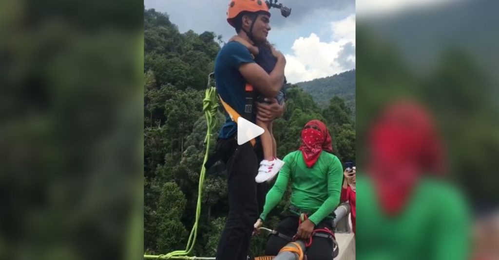 Unfassbar: Vater nimmt kleine Tochter zum Bungee Jumpen mit