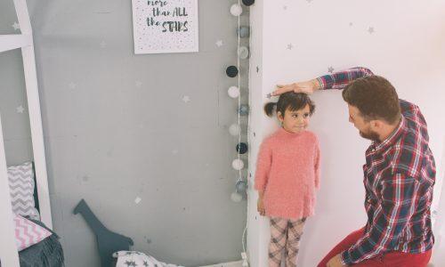 Größentabelle für Kinder vom 1. zum 5. Lebensjahr