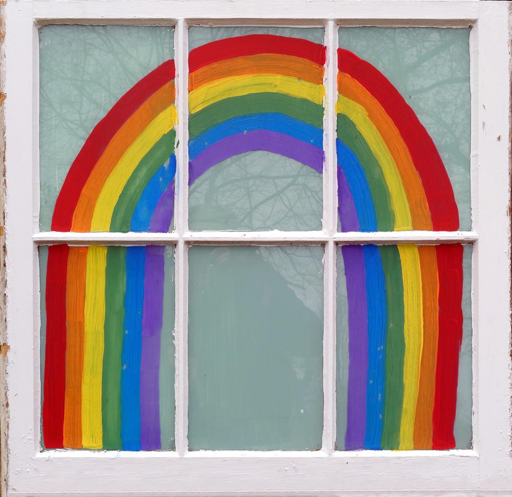 Regenbogen Am Fenster